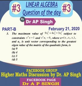 question of the day csir net maths