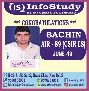 Sachin AIR 86 CSIR NET MATHS LS