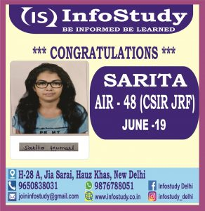 Sarita AIR 48 CSIR NET MATHS JRF